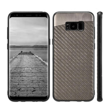 Load image into Gallery viewer, Carbon Metallic Fusion Candy TPU Case With Car Mount System - Grey for Samsung Galaxy S8 Plus
