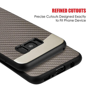Carbon Metallic Fusion Candy TPU Case With Car Mount System - Grey for Samsung Galaxy S8 Plus
