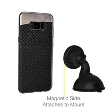 Load image into Gallery viewer, Carbon Metallic Fusion Candy TPU Case With Car Mount System - Black for Samsung Galaxy S8 Plus