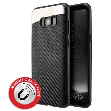 Carbon Metallic Fusion Candy TPU Case With Car Mount System - Black for Samsung Galaxy S8 Plus