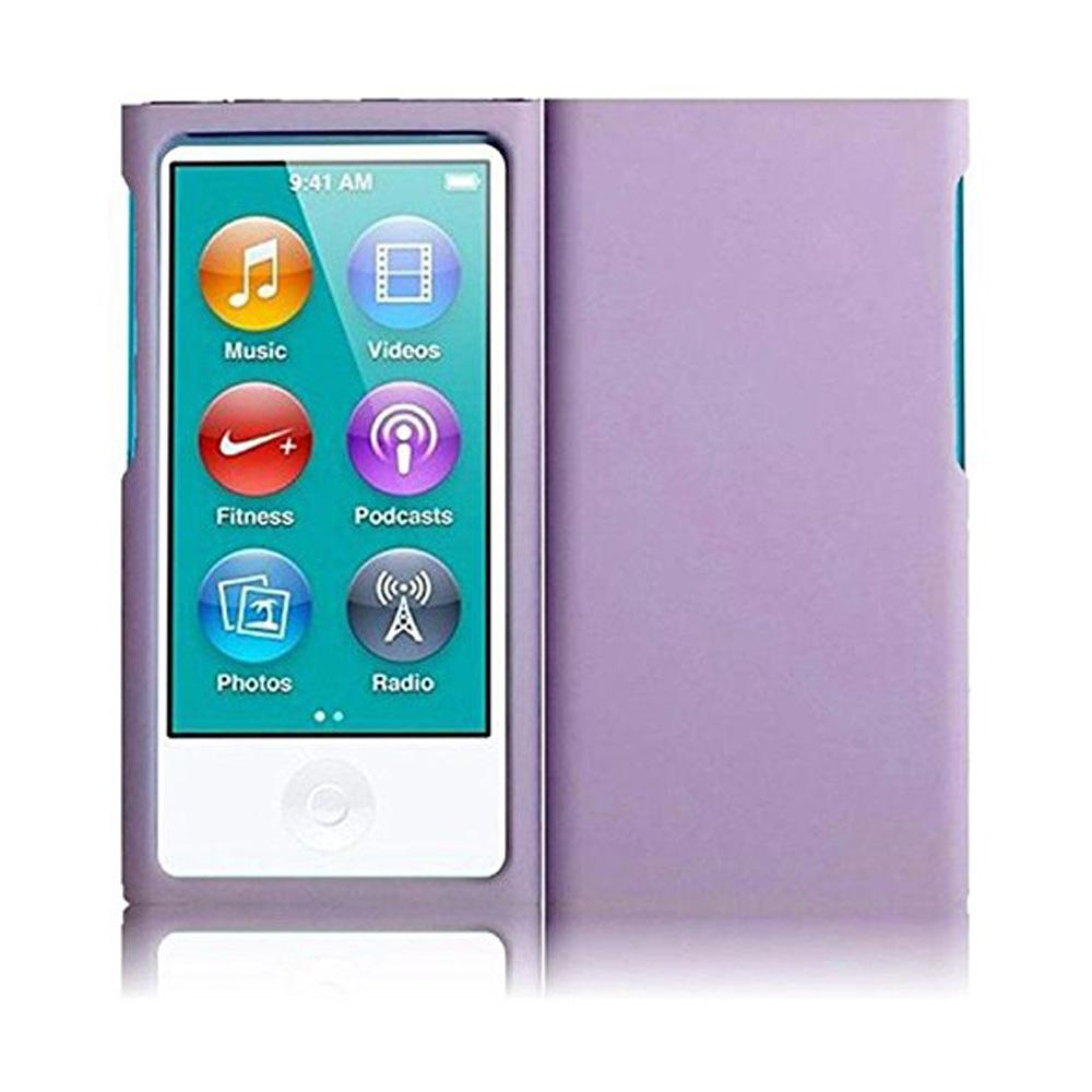 Rubberized Protective Cover - Light Purple for iPod Nano 7th Gen