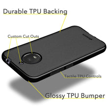 Load image into Gallery viewer, AMZER Pudding TPU Case - Black for Motorola Moto E4 Plus