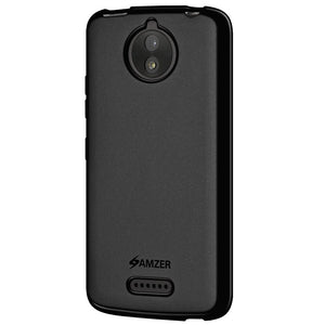 AMZER Pudding TPU Case - Black for Motorola Moto C Plus