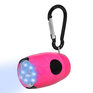 Fashion Print LED Tank Light with Carabineer Clip - Pink Polka Dot