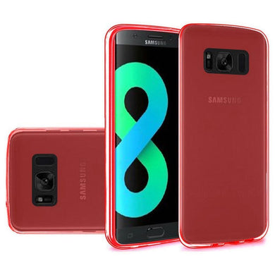 Crystal Transparent TPU Case - Red for Samsung Galaxy S8 Plus