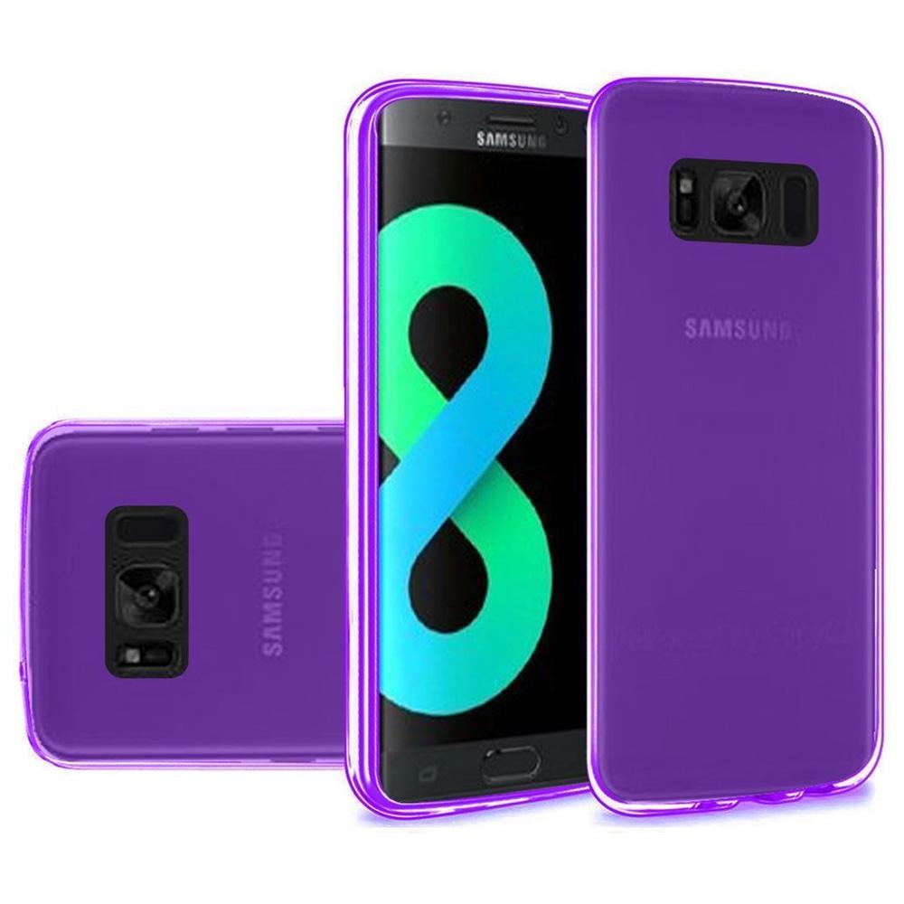 Crystal Transparent TPU Case - Purple for Samsung Galaxy S8 Plus