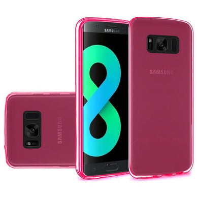 Crystal Transparent TPU Case - Hot Pink for Samsung Galaxy S8 Plus