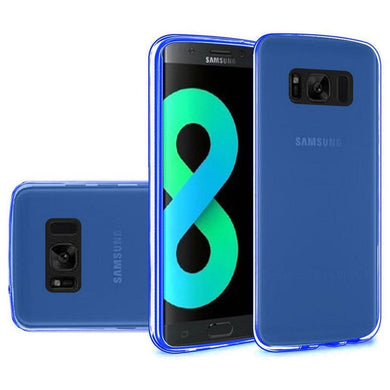 Crystal Transparent TPU Case - Blue for Samsung Galaxy S8 Plus