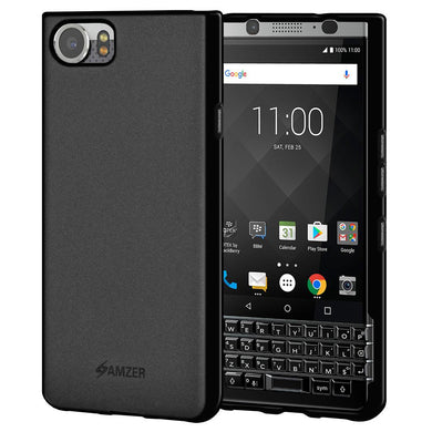 AMZER Shockproof Pudding Soft TPU Skin Case for BlackBerry KEYone - Black
