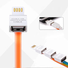 Load image into Gallery viewer, Micro USB OTG Sync Jelly Flat Charging Cable With Double Color LED Indicators (1M/3.3ft) - Orange
