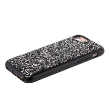 Load image into Gallery viewer, Rhinestone Diamond Platinum Collection Hybrid Bumper Case - Black for iPhone 6