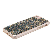 Load image into Gallery viewer, Rhinestone Diamond Platinum Collection Hybrid Bumper Case - Blue/ Gold for iPhone 6