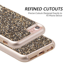 Load image into Gallery viewer, Rhinestone Diamond Platinum Collection Hybrid Bumper Case - Gold/ Grey for iPhone 6
