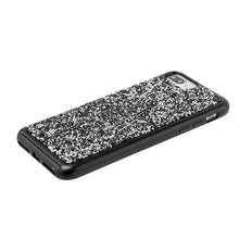 Load image into Gallery viewer, Rhinestone Diamond Platinum Collection Hybrid Bumper Case - Black for iPhone 6 Plus