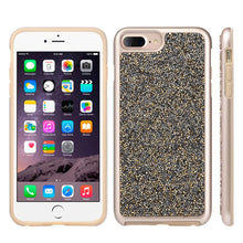 Load image into Gallery viewer, Rhinestone Diamond Platinum Collection Hybrid Bumper Case - Gold/ Grey for iPhone 6 Plus