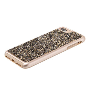 Rhinestone Diamond Platinum Collection Hybrid Bumper Case - Gold/ Grey for iPhone 6 Plus