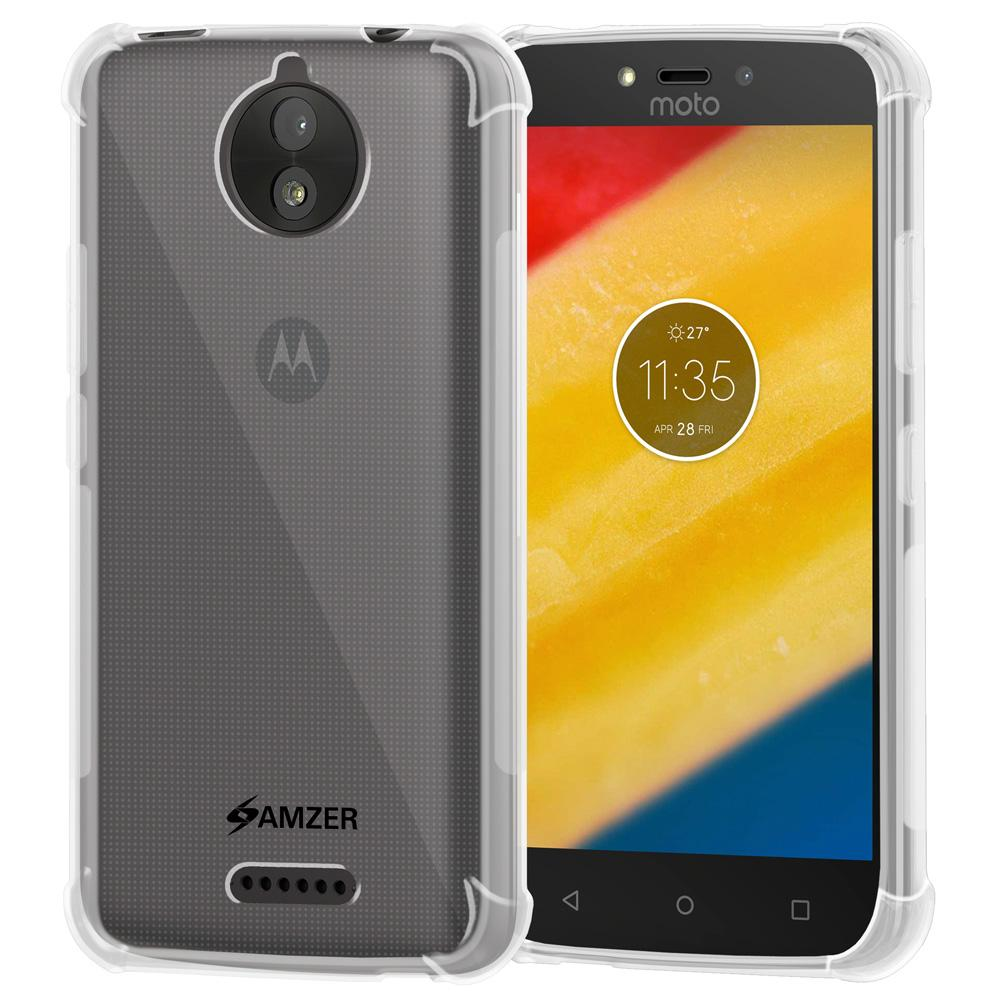 AMZER Pudding TPU X Protection Case - Crystal Clear for Motorola Moto C Plus
