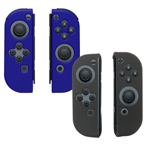AMZER® Silicone Skin Jelly Case Combo (Pack of 2)- Black & Blue for Nintendo Switch