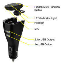 Load image into Gallery viewer, CBH-05 Bluetooth Headset with Dual USB Port Car Charger