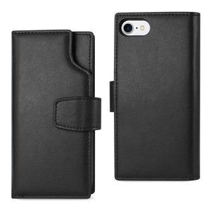 AMZER® Handcrafted Genuine Leather RFID Credit Card Holder Wallet Case - Black for iPhone 6