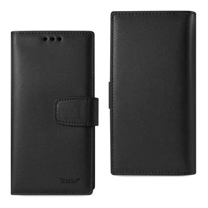 Reiko® Handcrafted Genuine Leather RFID Credit Card Holder Wallet Case - Black for iPhone 6 Plus