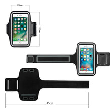 Load image into Gallery viewer, Universal Ultra Slim Adjustable Sports Armband Workout Case With Key Holder - Black