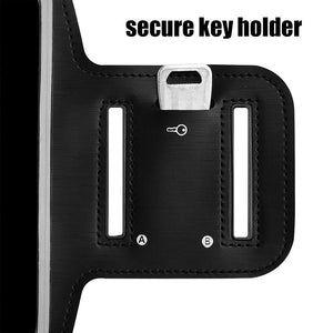 Universal Ultra Slim Adjustable Sports Armband Workout Case With Key Holder - Black