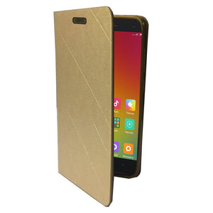 Royal Series Lishen Ultra Slim Leather Flip Case - Gold for Xiaomi Mi 4
