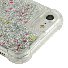 Load image into Gallery viewer, Hybrid Quicksand with Glitter Fused Flexible TPU Case - Silver for iPhone 7