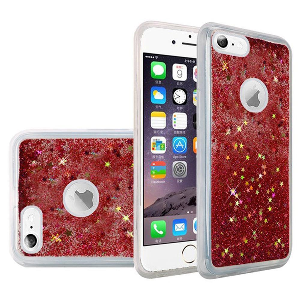 Hybrid Quicksand with Glitter Fused Flexible TPU Case - Rose Pink for iPhone 6/ 6s for iPhone 6