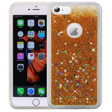 Load image into Gallery viewer, Hybrid Quicksand with Glitter Fused Flexible TPU Case - Gold for iPhone 6 Plus/ 6s Plus for iPhone 6 Plus