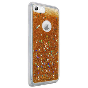 Hybrid Quicksand with Glitter Fused Flexible TPU Case - Gold for iPhone 6 Plus/ 6s Plus for iPhone 6 Plus