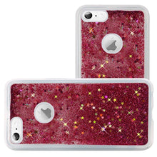 Load image into Gallery viewer, Hybrid Quicksand with Glitter Fused Flexible TPU Case - Hot Pink for iPhone 6 Plus/ 6s Plus for iPhone 6 Plus
