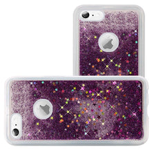 Load image into Gallery viewer, Hybrid Quicksand with Glitter Fused Flexible TPU Case - Dark Purple for iPhone 6 Plus/ 6s Plus for iPhone 6 Plus