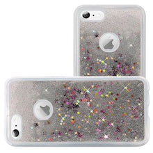 Load image into Gallery viewer, Hybrid Quicksand with Glitter Fused Flexible TPU Case - Silver for iPhone 6 Plus/ 6s Plus for iPhone 6 Plus