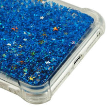 Load image into Gallery viewer, Hybrid Quicksand with Glitter Fused Flexible TPU Case - Light Blue for iPhone 7 Plus