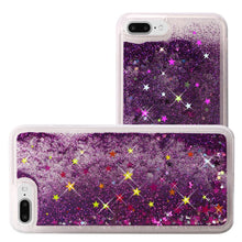 Load image into Gallery viewer, Hybrid Quicksand with Glitter Fused Flexible TPU Case - Dark Purple for iPhone 7 Plus
