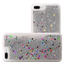 Load image into Gallery viewer, Hybrid Quicksand with Glitter Fused Flexible TPU Case - Silver for iPhone 7 Plus