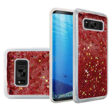 Load image into Gallery viewer, Hybrid Quicksand with Glitter Fused Flexible TPU Case - Rose Pink for Samsung Galaxy S8 SM-G950U for Samsung Galaxy S8