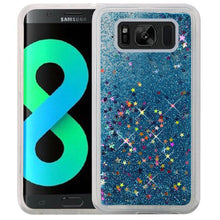 Load image into Gallery viewer, Hybrid Quicksand with Glitter Fused Flexible TPU Case - Light Blue for Samsung Galaxy S8 Plus SM-G955U for Samsung Galaxy S8 Plus