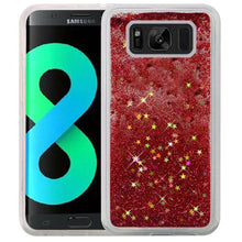 Load image into Gallery viewer, Hybrid Quicksand with Glitter Fused Flexible TPU Case - Rose Pink for Samsung Galaxy S8 Plus SM-G955U for Samsung Galaxy S8