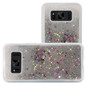 Hybrid Quicksand with Glitter Fused Flexible TPU Case - Silver for Samsung Galaxy S8 Plus SM-G955U for Samsung Galaxy S8