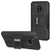 Load image into Gallery viewer, AMZER Shockproof Warrior Hybrid Case for Motorola Moto G5 - Black/Black