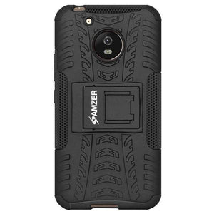 AMZER Shockproof Warrior Hybrid Case for Motorola Moto G5 - Black/Black