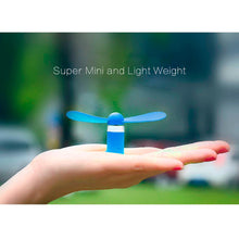 Load image into Gallery viewer, USB Type C Compatible Devices Mini Cooler Fan - Blue