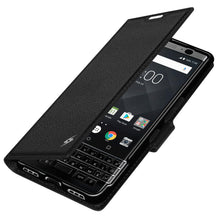 Load image into Gallery viewer, AMZER Flip Case - Black for BlackBerry KEYone