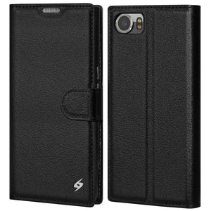 AMZER Flip Case - Black for BlackBerry KEYone