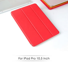 Load image into Gallery viewer, AMZER® Shell Portfolio Case - Red Leather Texture for Apple iPad Pro 10.5