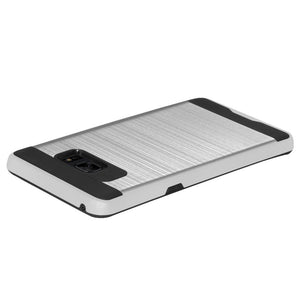 AMZER® Hybrid Metto Case - Silver for Samsung Galaxy Note Fan Edition