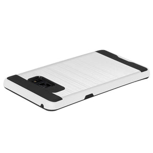 AMZER® Hybrid Metto Case - White for Samsung Galaxy Note Fan Edition